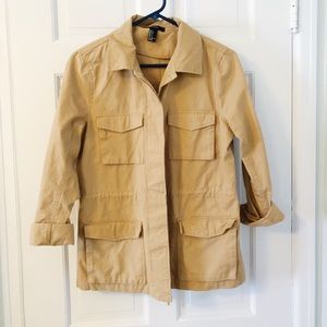 Forever 21 Nude Tan Crop Trench Coat Small Jacket